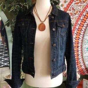 OBR Button Up Denim jacket - dark washed